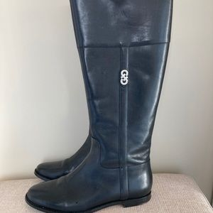 """Cole Haan black leather """"Rigby"""" riding boots"""